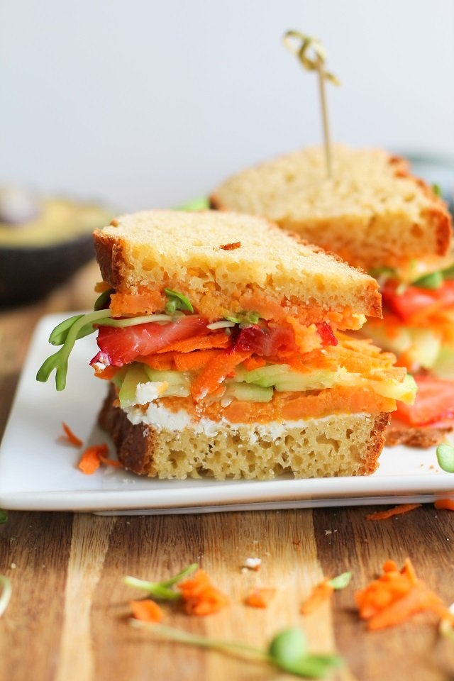 The Ultimate Garden Vegetable Sandwich with Herbed Goat Cheese from The Roasted Root