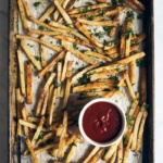 french fries on a baking sheet