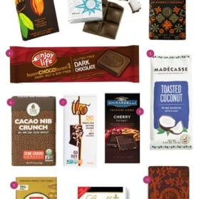 the best dark chocolate bars graphic