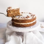Lightened Up Gluten Free Carrot Cake with Cinnamon Cream Cheese Frosting