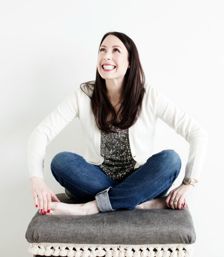 Elizabeth Dehn sitting on a chair