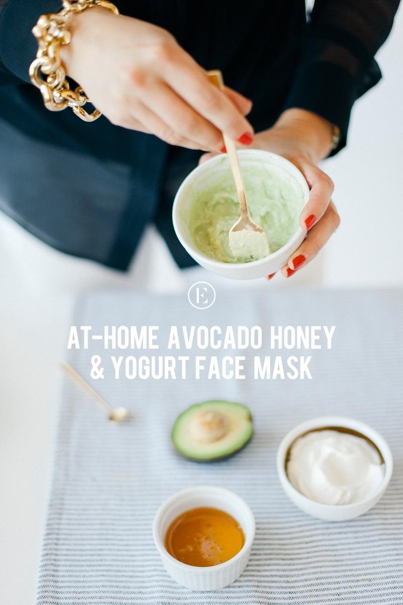at home avocado honey mask graphic