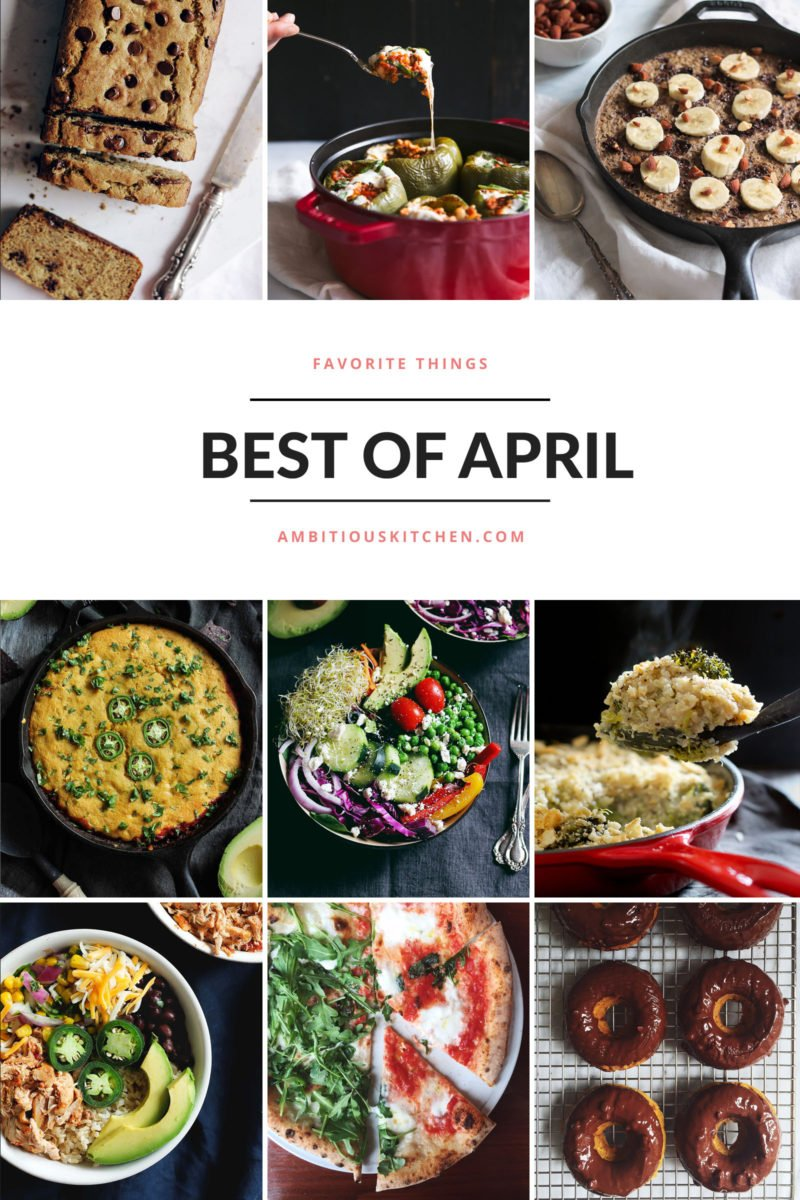 Ambitious Kitchen's Best of April 2016 collage