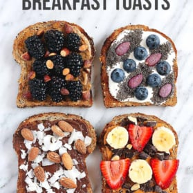 Healthy Breakfast Toasts graphic