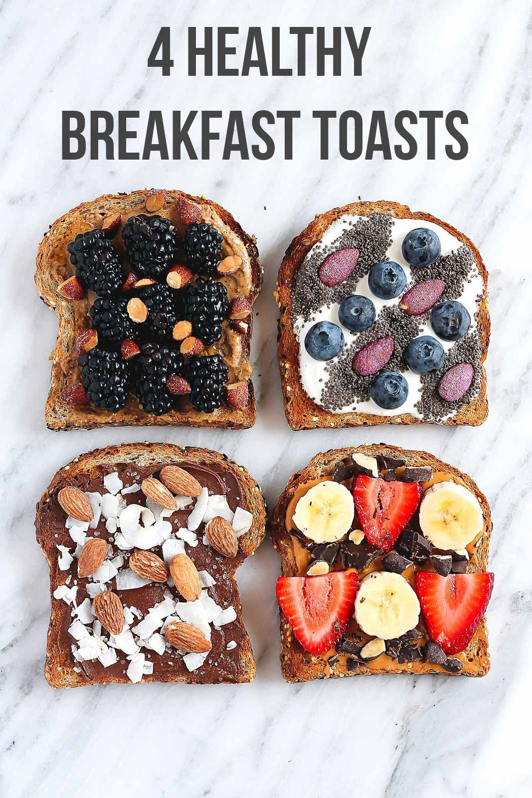 4 Healthy Breakfast Toasts graphic