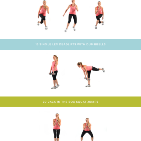 Daisy Duke Ready Lower Body workout graphic