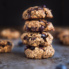 blueberry breakfast cookies in a stack