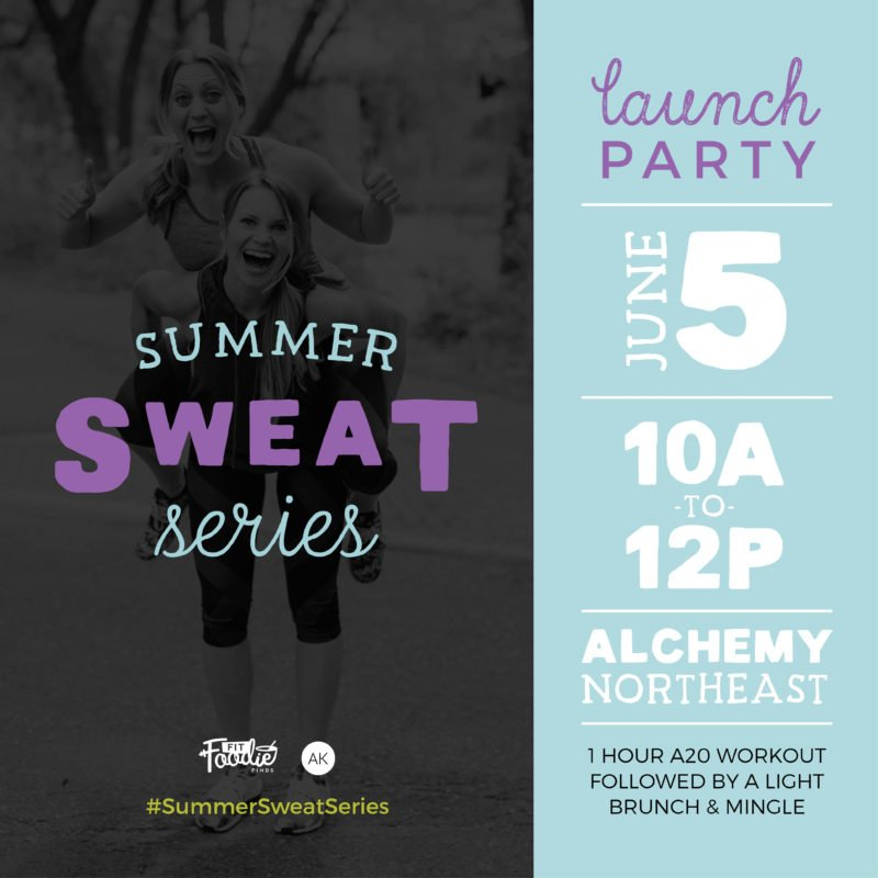 summer sweat series launch party graphic