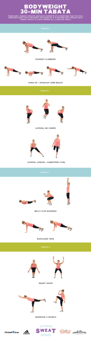 30 Minute Tabata workout graphic