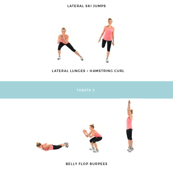30 Minute Tabata that will have you dripping in sweat!