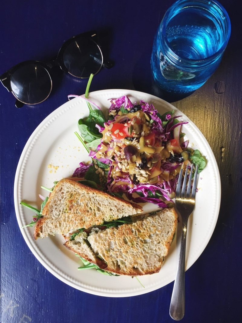 sandwich and salad on a plate
