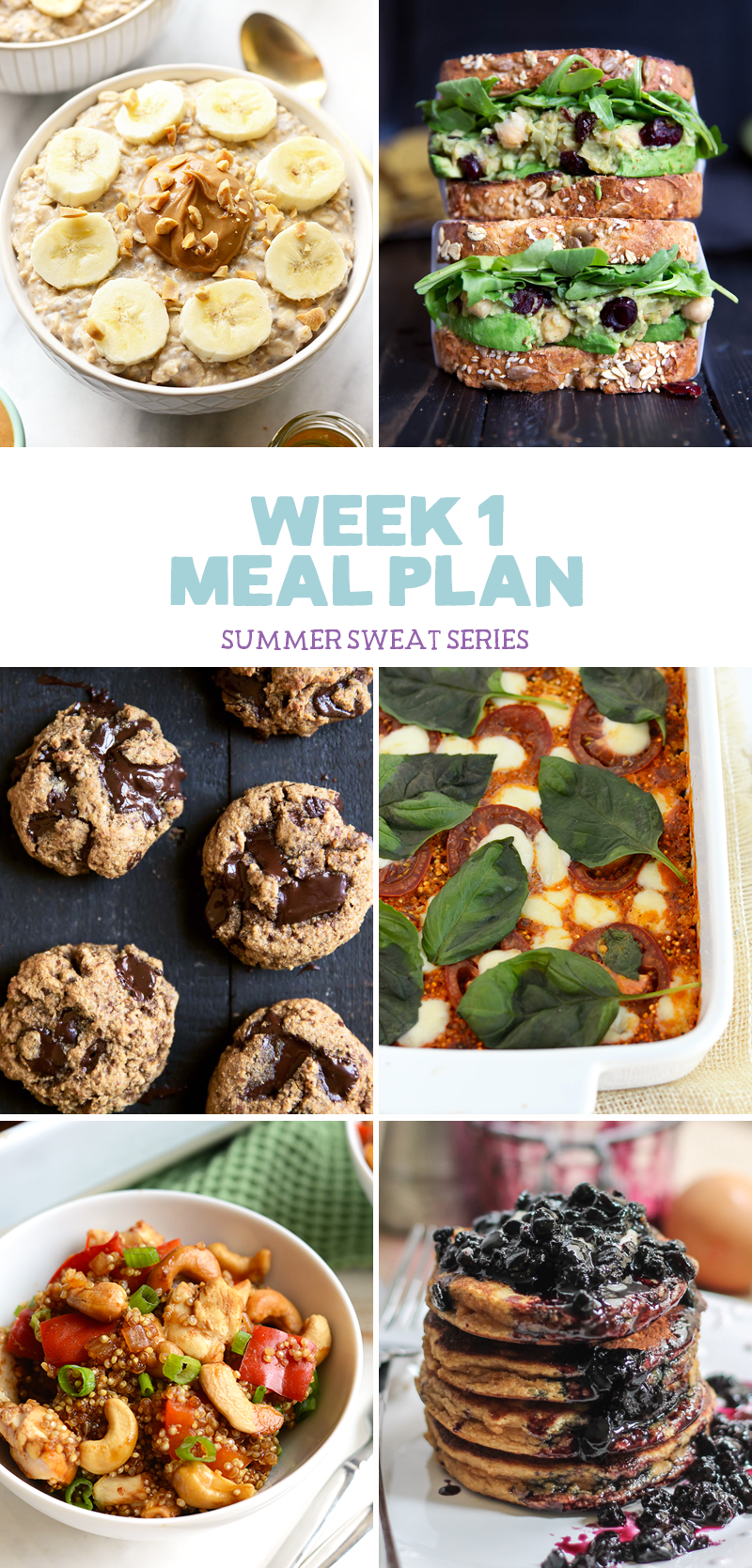Summer Sweat Series 2016: Week 1 Nutrition Plan + Grocery List graphic