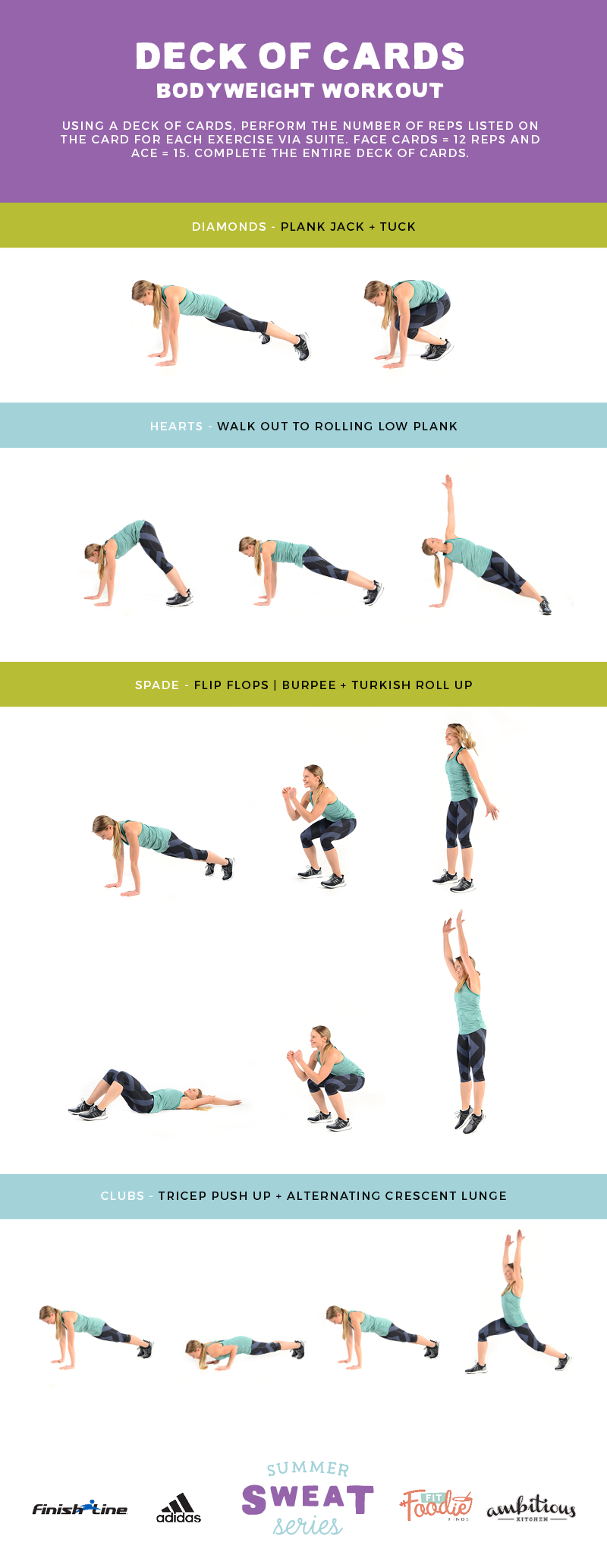 Deck of Cards Bodyweight Workout graphic