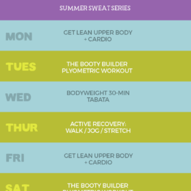 Week 2 Summer Sweat Series Workout Plan graphic