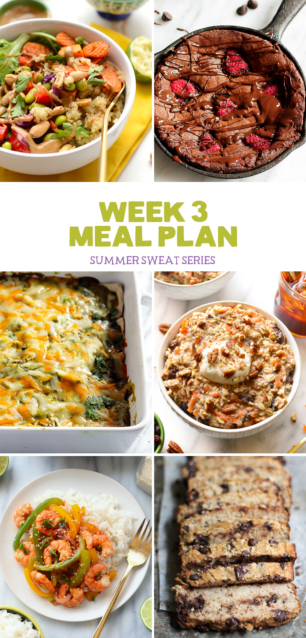 Summer Sweat Series Week 3 Nutrition Plan + Grocery List