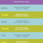 Summer Sweat Series 2016: Week 4 Fitness Plan