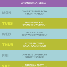 summer sweat series 4 week plan graphic