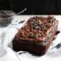 gluten free chocolate zucchini bread on a linen