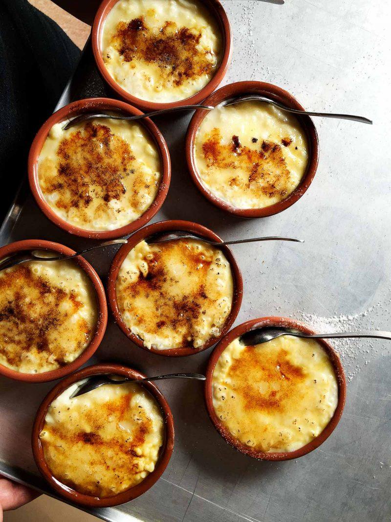 mini rice puddings