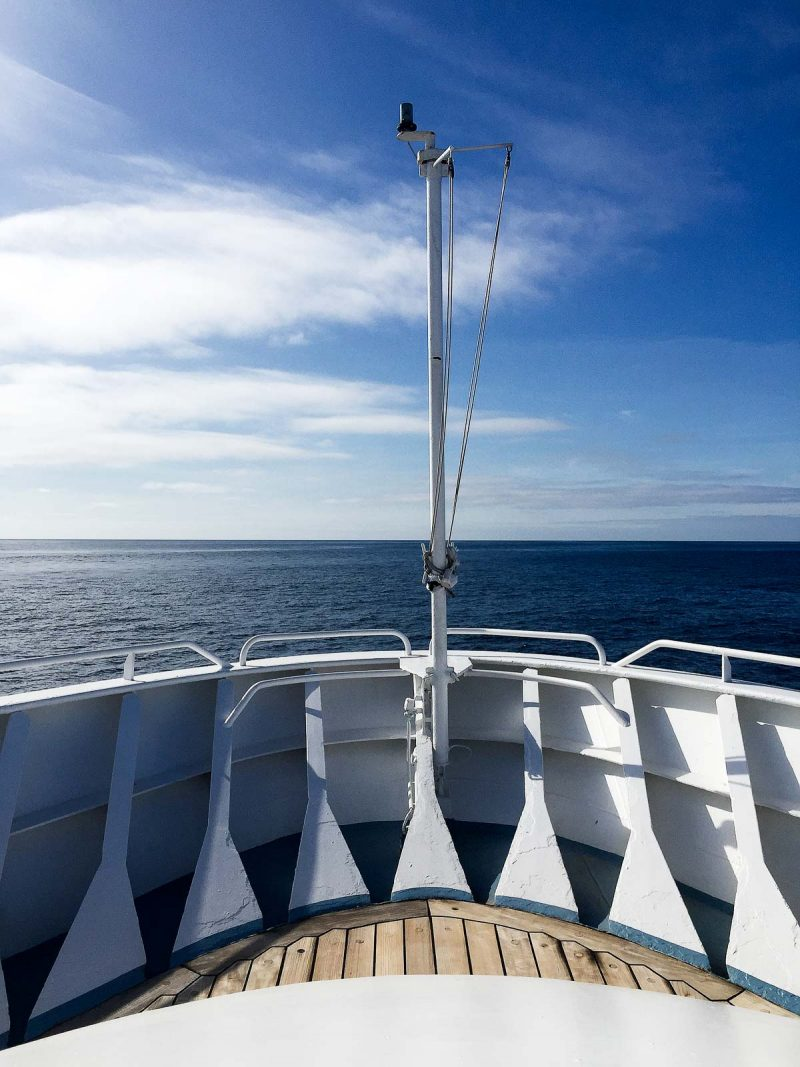 bow of a cruise