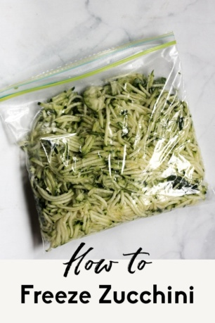 how to freeze zucchini with text overlay