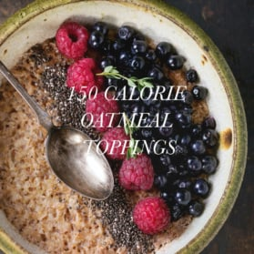 150 calorie oatmeal toppings graphic