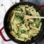 30 Minute Skinny Alfredo Ziti with Broccoli