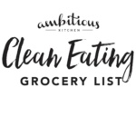 Free Printable Clean Eating Grocery List + Survey!