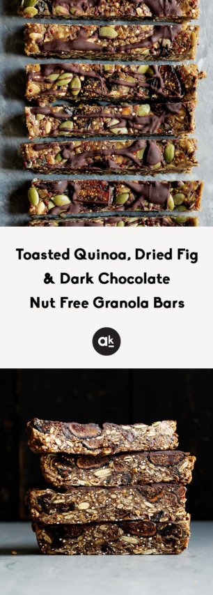 collage of nut free granola bars