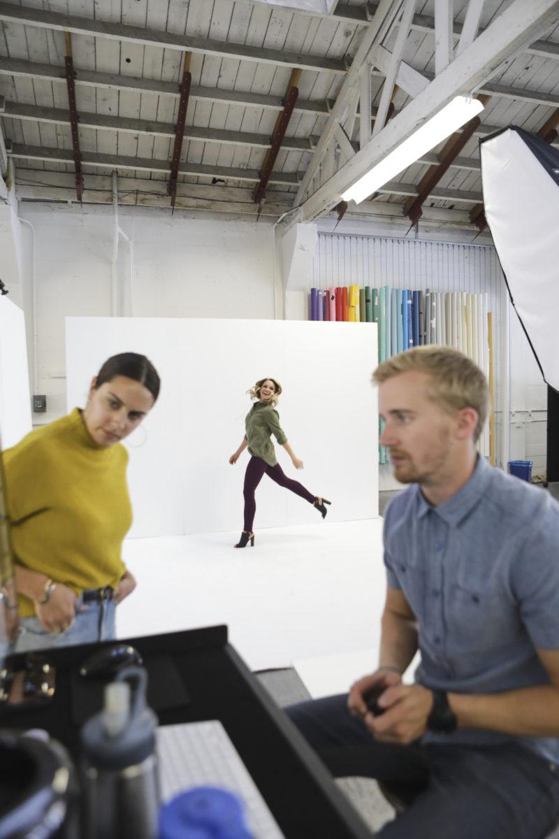 monique on a photoshoot set at Stitchfix HQ
