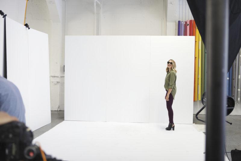 monique on a photoshoot set