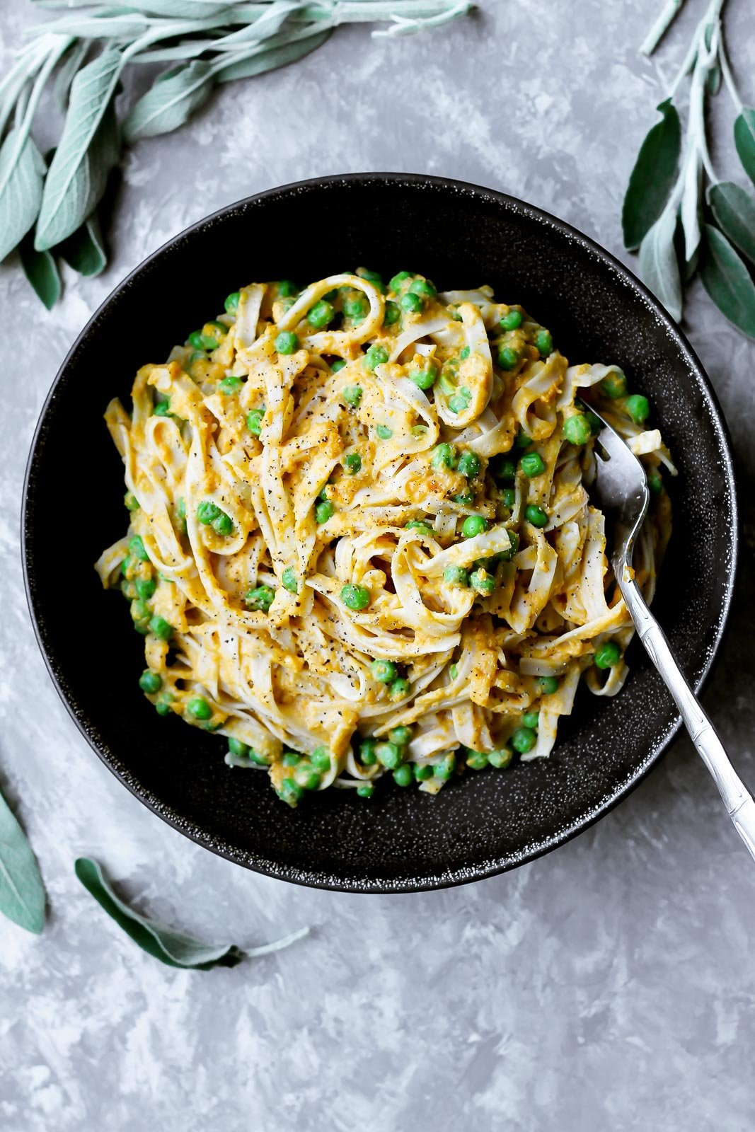 Roasted butternut squash pasta with peas ambitious kitchen savory roasted butternut squash pasta with sweet green peas is the ultimate vegetarian comfort food forumfinder Gallery