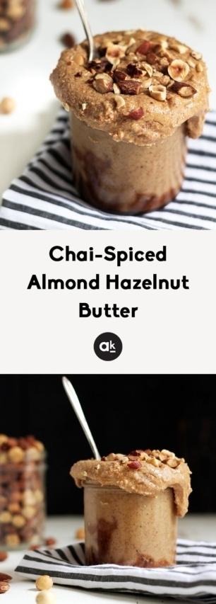 collage of hazelnut butter recipe