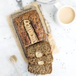 Healthy Honey Flax Tahini Banana Bread