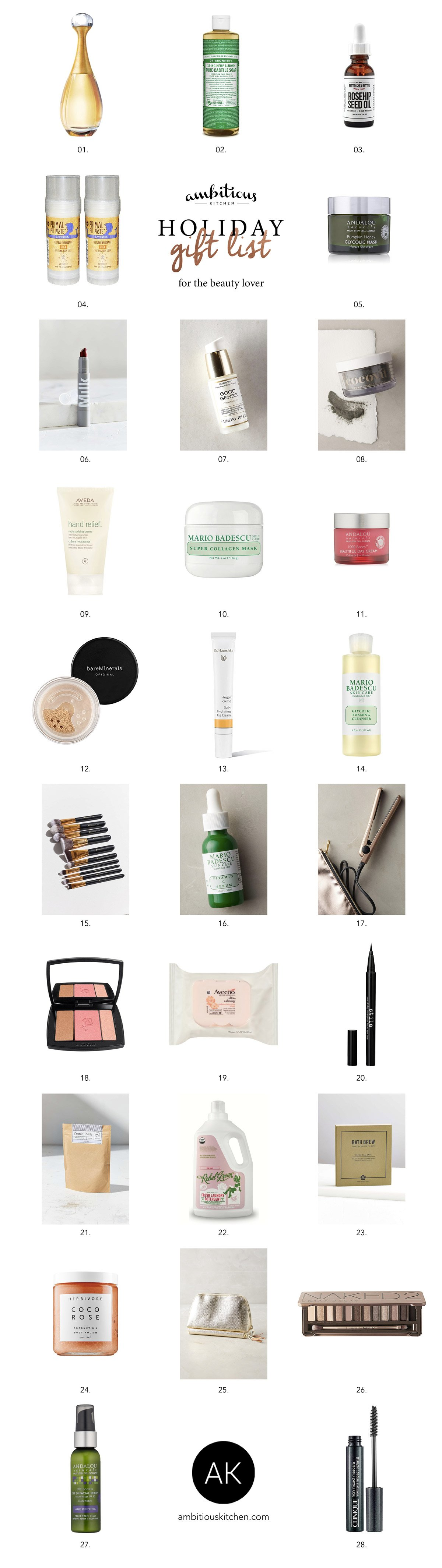 Gift Guide for the Beauty Lover: Amazing skincare & makeup products!