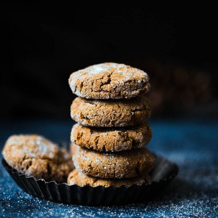 Soft paleo ginger molasses cookies that taste like the holiday time favorite you know and love. These grain free treats could just be healthy enough to enjoy for breakfast!