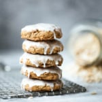 Old Fashioned Iced Brown Butter Oatmeal Cookies
