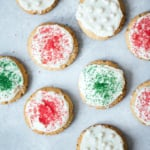 Soft Almond Flour Sugar Cookies with Vanilla Buttercream + video!