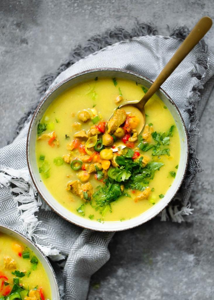 Golden Turmeric Chickpea Chicken Soup | Ambitious Kitchen | Bloglovin ...