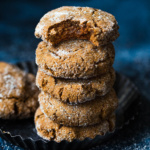 stack of paleo ginger molasses cookies