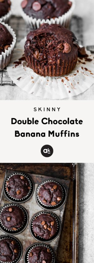 Skinny Double Chocolate Banana Muffins For Reagan Ambitious Kitchen