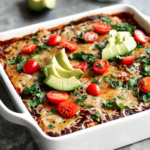 Low Carb Chicken Zucchini Enchilada Bake