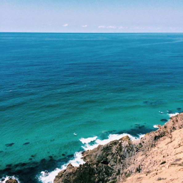 ocean over a cliff
