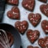Grain Free Almond Flour Chocolate Sugar Cookies cut into hearts