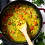 Healing Lemongrass Chickpea Thai Green Curry with Toasted Coconut Brown Rice