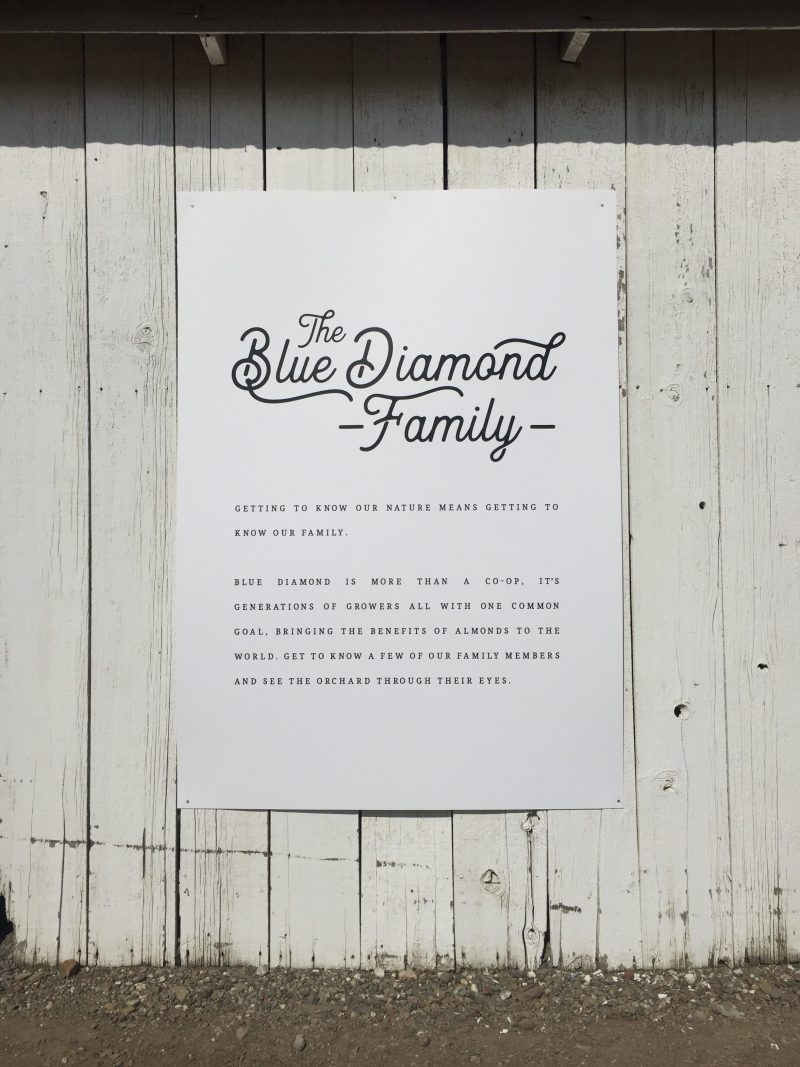 the blue diamond family sign