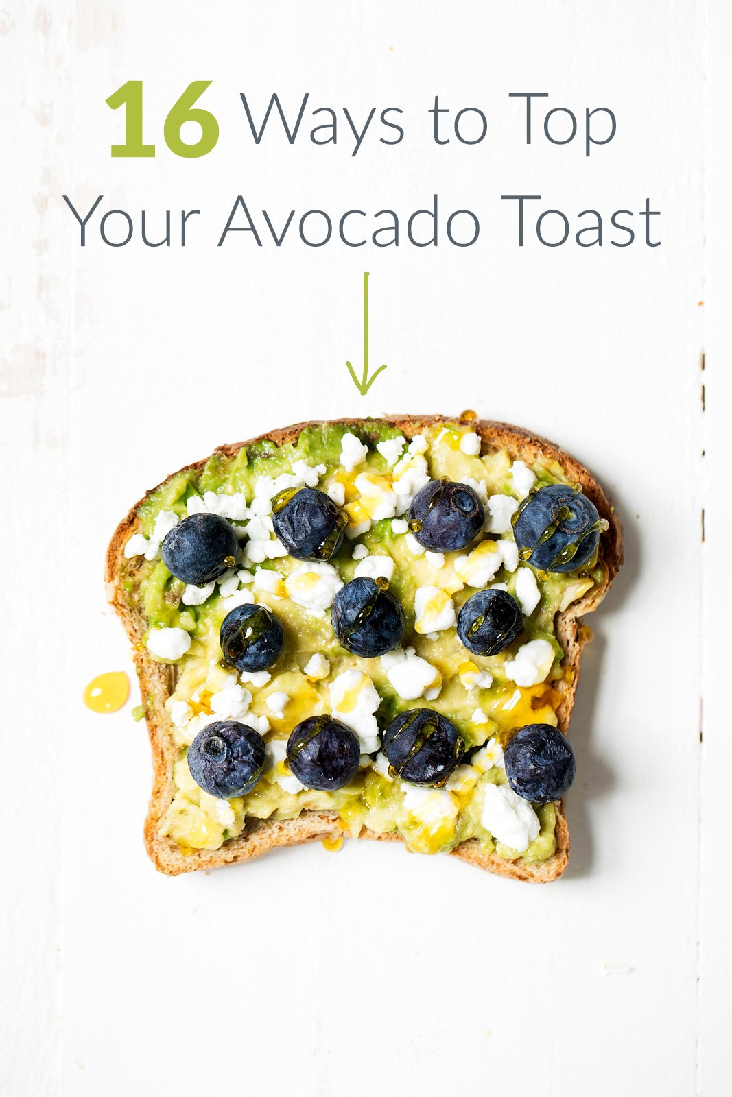 16 ways to top your avocado toast with text overlay