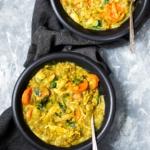 Golden Coconut Chicken Lentil Soup