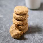 maple peanut butter cookies in a stack