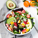 Orange Strawberry Avocado Salad with Citrus Poppyseed Dressing